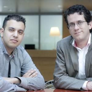 Shell Project Manager Peter Daemen & NTR Redacteur Mustapha Esadik. Foto: Rob Groot